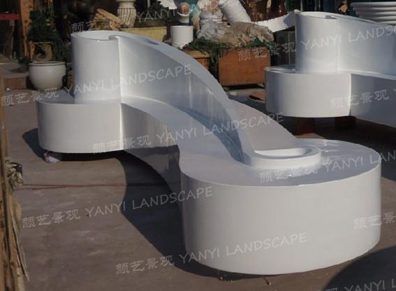 玻璃钢花艺休闲座椅