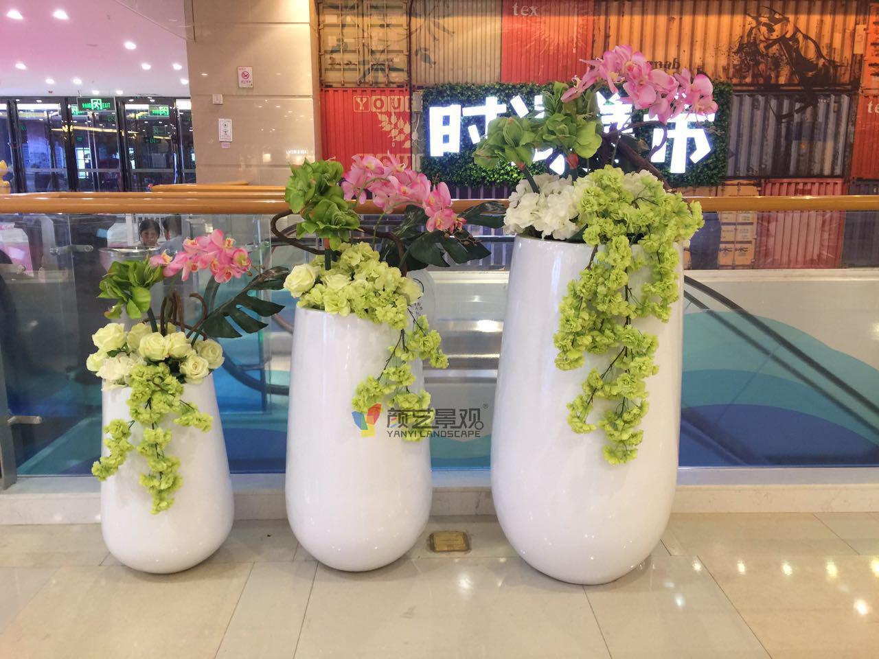 商场购物花盆
