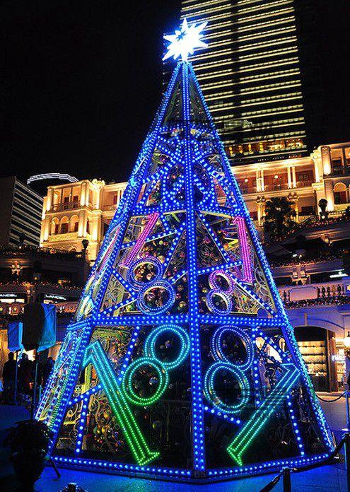 户外创意圣诞树