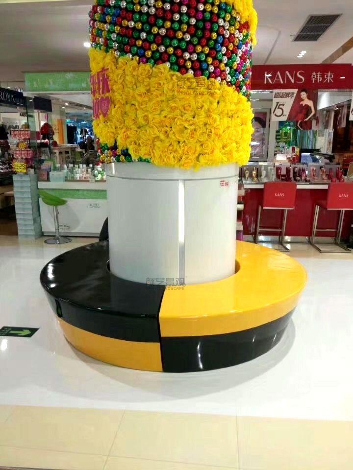 大型商场创意可拼接环形座椅